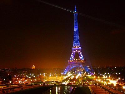 Palais de Chaillotから見たエッフェル塔