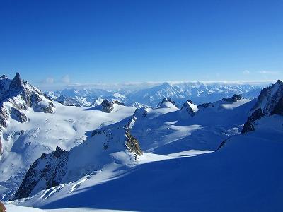 標高3842mからの眺め