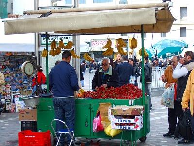 果物の屋台