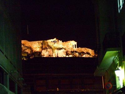 パルテノン神殿ライトアップ