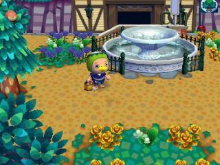 噴水前の花壇
