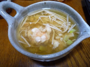 080418 えびだんごの中華スープ