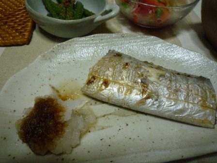 080805 太刀魚の塩焼き