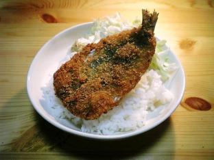 いわしフライ丼001