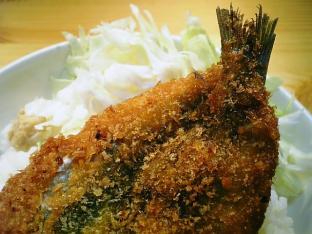 いわしフライ丼002