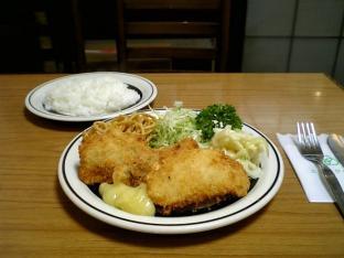 ミツワグリル、魚フライ、ライス003
