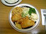 ミツワグリル、魚フライ、ライス006