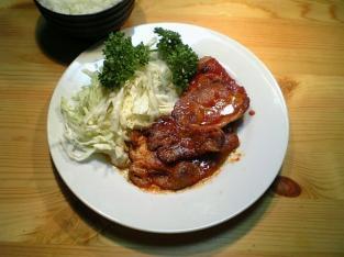 豚ロースの ケチャップ炒め001