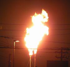 天然ガス 夜