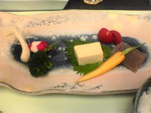 下部ホテル 前菜 野菜盛り合わせ