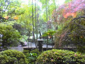 下部ホテル ロビーからの風景