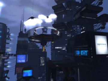 未来風サイバー都市