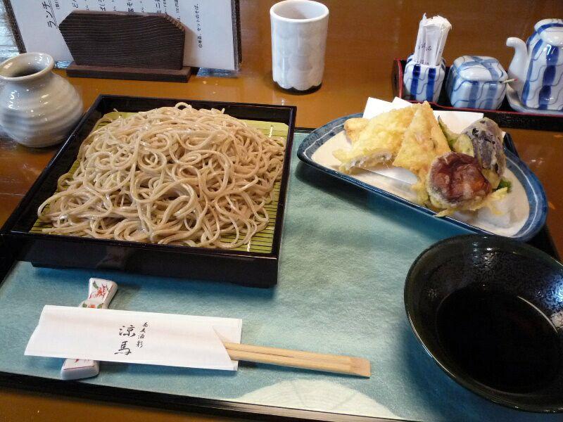 1.蕎麦酒彩 涼馬 (穴子天せいろ)
