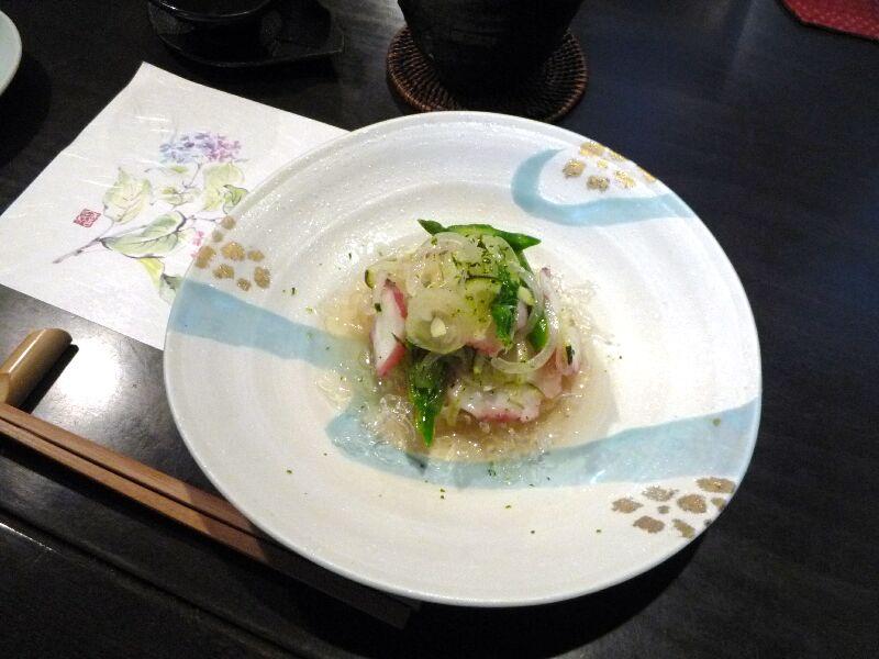 20.手打ち蕎麦 銀杏 (蛸とアスパラのマリネ)
