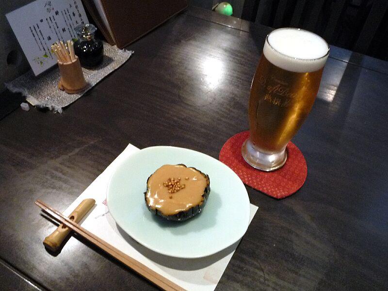 20.手打ち蕎麦 銀杏 (丸茄子の田楽)
