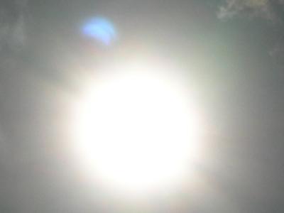 日食の影?