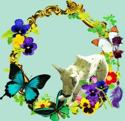 しょんぼり犬&「花とストロベリー」