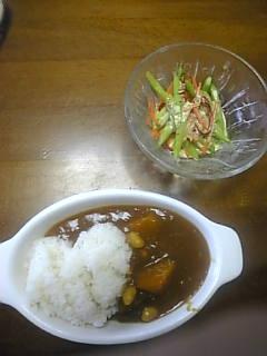 南瓜と大豆カレー