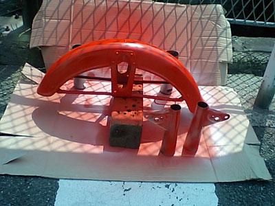 Fフェンダー塗装1