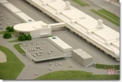 パドック内に新設されるセンターハウスを拡大