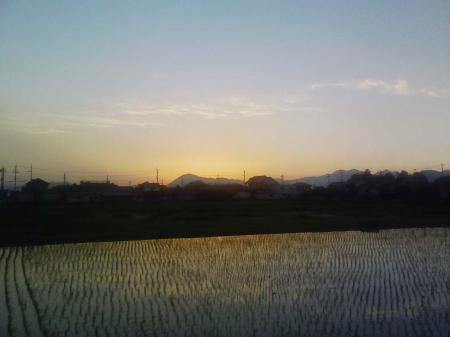 西光寺の夕日