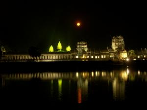 Angkor with moon