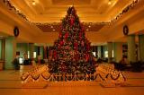 グランドホテル内のクリスマスツリー
