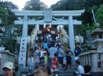 浦賀祭りで盛り上がる西叶神社