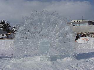 09 氷祭り 孔雀