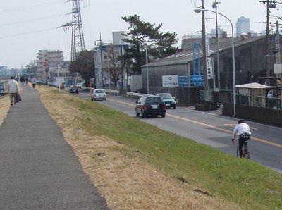 車道を走るbikesさん