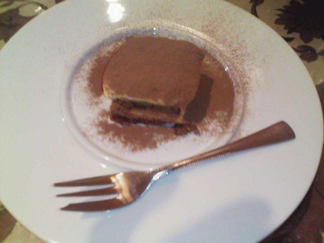 デザートのティラミス  やっぱりこれも美味い!!