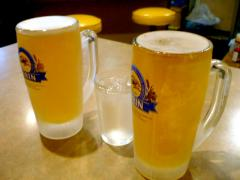 ビールと水・・・(笑)