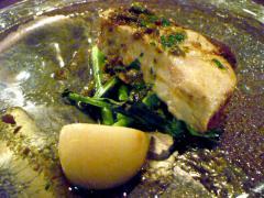 熊本産寒鰤と味九条葱のレアグリル  マントバソース