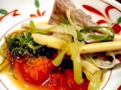 大阪梅ビーフと野菜のせいろ蒸し by ポン酢
