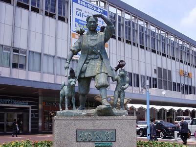 自転車の 岡山駅前 自転車 レンタル : 岡山駅に到着すると、桃太郎の ...