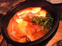 豆腐チゲ鍋ハンバーグ