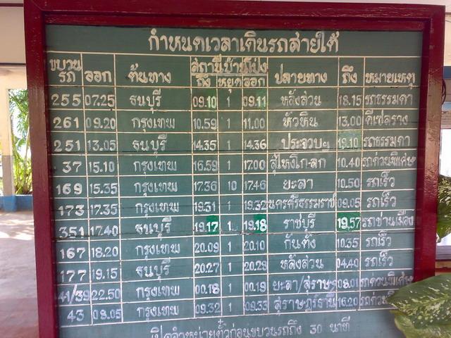 タイ鉄道 バンポン駅06