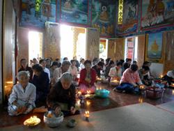 お寺での儀式