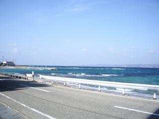 江津良海水浴場付近