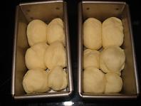 ミニ食パン型に・・♪