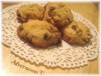 チョコチップとごまのドロップクッキー