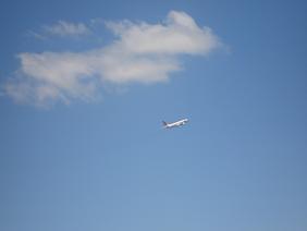 展望台からの飛行機