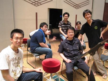 2009.8.1田代先生とコントラバス