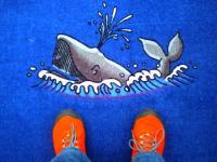 絨毯にクジラ
