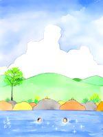 童画作家 秋野赤根のセンチメンタル・ロマン 遠い日の情景 「夏休み」