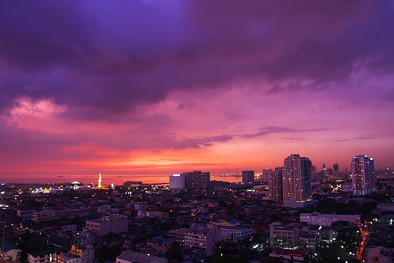 Sunset in Manila