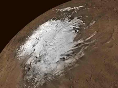 火星の巨大氷層 溶けると水深11mで全表面覆う量1
