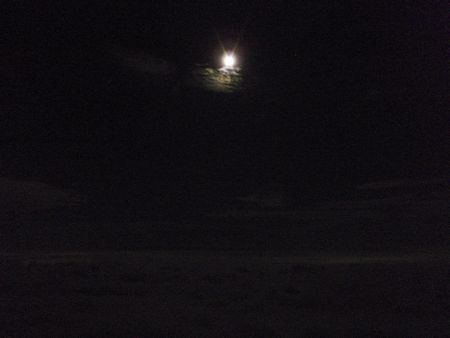 夜と月と雲海