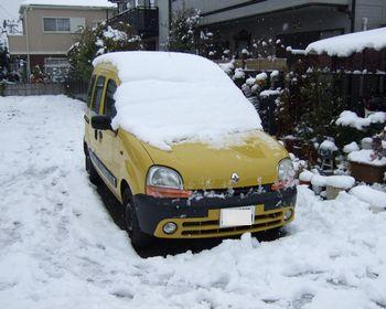 雪のカングー