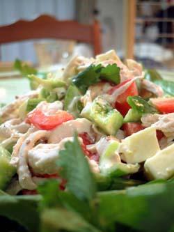 カラーピーマンのサラダ